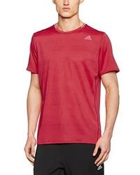 fuchsia T-Shirt mit einem Rundhalsausschnitt von adidas