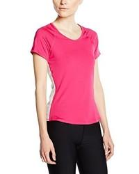fuchsia T-Shirt mit einem Rundhalsausschnitt von Nike