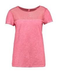 fuchsia T-Shirt mit einem Rundhalsausschnitt von s.Oliver