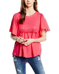 Fuchsia T-Shirt mit Rundhalsausschnitt von Vero Moda