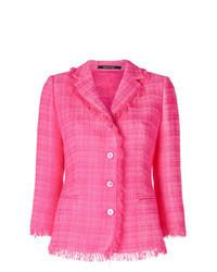 fuchsia Tweed-Jacke