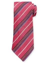 fuchsia vertikal gestreifte Krawatte