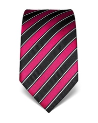 fuchsia vertikal gestreifte Krawatte von Vincenzo Boretti