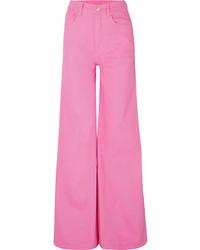 fuchsia weite Hose aus Jeans von SOLACE London