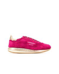 fuchsia Wildleder Niedrige Sneakers