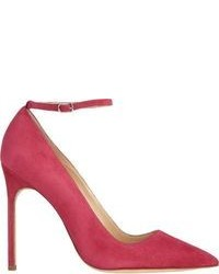 fuchsia Wildleder Pumps
