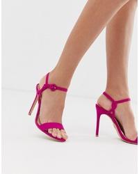 fuchsia Wildleder Sandaletten von Lipsy