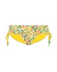 gelbe bedruckte Bikinihose von Stella McCartney