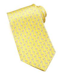 gelbe bedruckte Krawatte