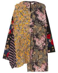gelbe bedruckte Seide Bluse von Balenciaga