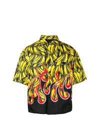 gelbe bedruckte Shirtjacke von Prada