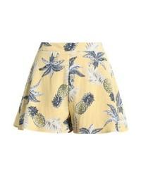 gelbe bedruckte Shorts von Missguided