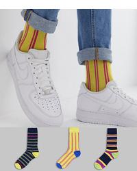 gelbe bedruckte Socken von ASOS DESIGN
