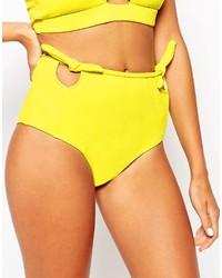 gelbe Bikinihose mit Ausschnitten von Motel