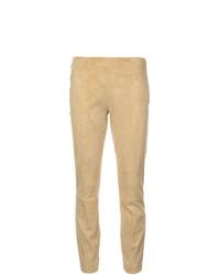 gelbe enge Hose aus Leder von The Row