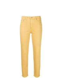 gelbe enge Jeans von AG Jeans
