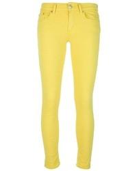 gelbe enge Jeans von Dondup