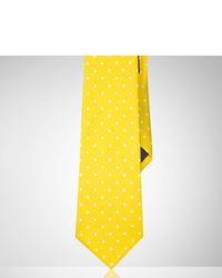gelbe gepunktete Krawatte