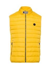 gelbe gesteppte ärmellose Jacke von Brax