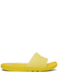 gelbe Gummi flache Sandalen