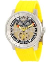 gelbe Gummi Uhr