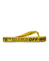 gelbe Gummi Zehensandalen von Off-White