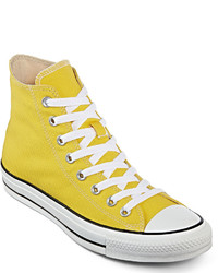 gelbe hohe Sneakers aus Segeltuch
