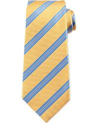 gelbe horizontal gestreifte Krawatte