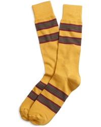 gelbe horizontal gestreifte Socken