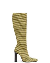 gelbe kniehohe Stiefel aus Leder von Balenciaga