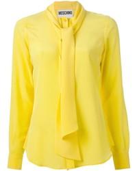 gelbe Langarmbluse von Moschino