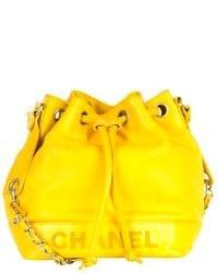 gelbe Leder Beuteltasche