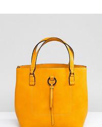 gelbe Leder Beuteltasche von Accessorize