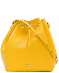 gelbe Leder Beuteltasche von No.21