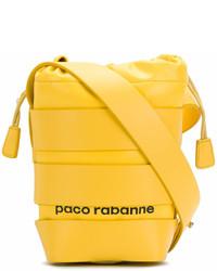 gelbe Leder Beuteltasche von Paco Rabanne