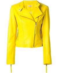 gelbe Leder Bikerjacke von P.A.R.O.S.H.