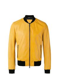 gelbe Leder Bomberjacke von Dolce & Gabbana