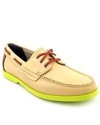 gelbe Leder Bootsschuhe