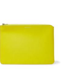 gelbe Leder Clutch Handtasche