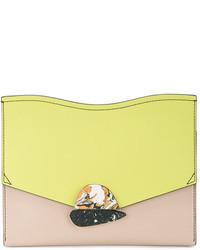 gelbe Leder Clutch von Proenza Schouler
