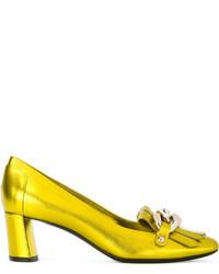 gelbe Leder Pumps von Casadei
