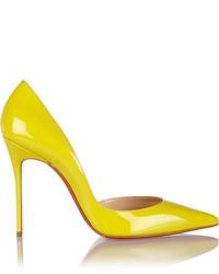 Gelbe Leder Pumps von Christian Louboutin