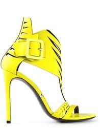 gelbe Leder Sandaletten von Gianmarco Lorenzi
