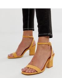 gelbe Leder Sandaletten von Mango