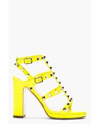 gelbe Leder Sandaletten von Valentino