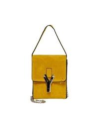 gelbe Leder Umhängetasche von Only