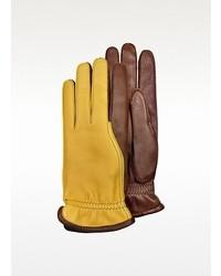 gelbe Lederhandschuhe