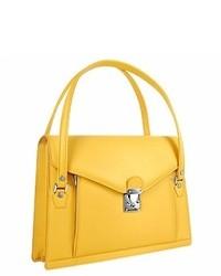 gelbe Lederhandtasche