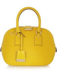 gelbe Lederhandtasche von Burberry