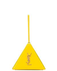 gelbe Lederhandtasche von Saint Laurent